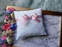 Prstene - Vankúšik na obrúčky - pudrová ružová - 10011091_