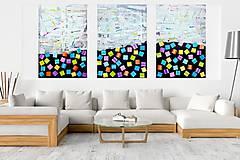 Obrazy - Nestrať to - XXL trojdielny  moderný abstraktný obraz - 10011423_