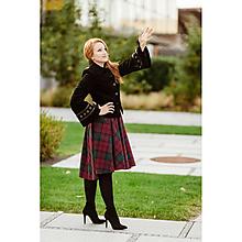 """Sukne - asymetrická sukňa """"škótske káro"""" (Bordovozelené káro) - 10011098_"""