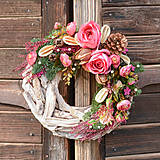Dekorácie - Smútočný veniec s ružami - 10011908_