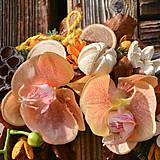 Dekorácie - Smútočný veniec s orchideou - 10012025_