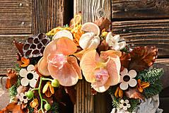 Dekorácie - Smútočný veniec s orchideou - 10012027_