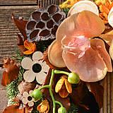 Dekorácie - Smútočný veniec s orchideou - 10012028_