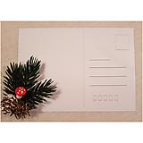 Grafika - Vianočná krížovková pohľadnica - Zima s kvapkou červenej - 10011545_
