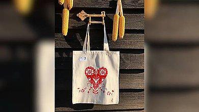 Iné tašky - ♥ Plátená, ručne maľovaná taška ♥ - 10010342_