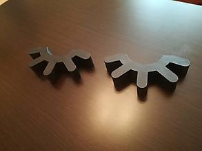 Dekorácie - 3D Mihalnice (Hnedá) - 10010218_