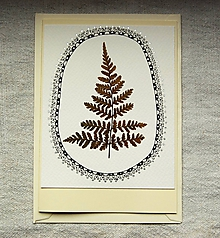 Papiernictvo - pohľadnica papraď - 10008796_