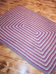 Úžitkový textil - Háčkovaná farebná prikrývka - 10009746_