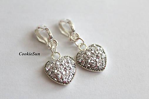 Klipsne Glitter Hearts Crystal