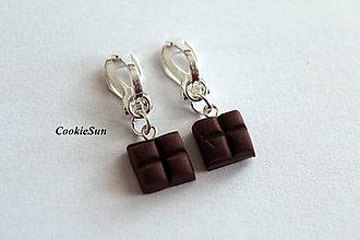 Náušnice - Klipsne s čokoládkami - 10011692_