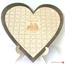 Dekorácie - Svadobné puzzle - QUESTS BOOK - 10011914_