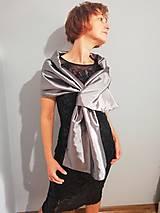 Šály - štóla k spoločenským šatám (36,38,40  - Čierna) - 10010705_