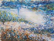 Obrazy - Modré ráno / Blue morning - Originál - 10008181_