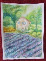 Obrazy - Provensálsko / Lavender Field - Originál - 10008541_
