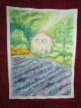 Obrazy - Provensálsko / Lavender Field - Originál - 10008542_