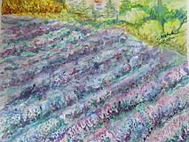 Obrazy - Provensálsko / Lavender Field - Originál - 10008549_