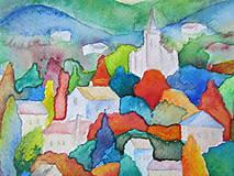 Obrazy - Farebný vidiek / Colorful countryside - Originál - 10009068_
