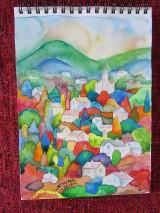Obrazy - Farebný vidiek / Colorful countryside - Originál - 10009069_