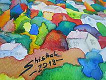 Obrazy - Farebný vidiek / Colorful countryside - Originál - 10009070_