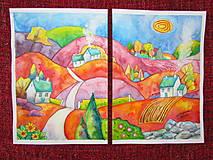 Obrazy - Jesenný dvojobraz/ Autumn diptych - Originál - 10009168_