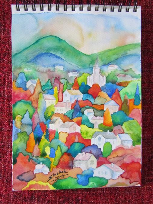 Farebný vidiek / Colorful countryside - Originál