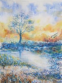 Obrazy - Modré ráno / Blue morning - Originál - 10008163_