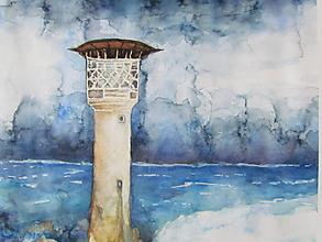 Obrazy - Maják / Lighthouse - Originál - 10008312_