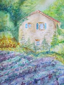 Obrazy - Provensálsko / Lavender Field - Originál - 10008548_