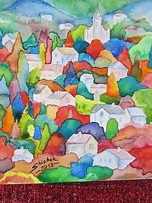 Obrazy - Farebný vidiek / Colorful countryside - Originál - 10009067_