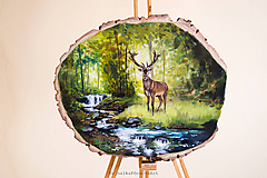 Obrazy - Srnka v lese - 10011903_