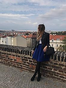Sukne - Kráľovská modrá sukňa - 10009181_