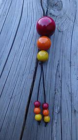 Náhrdelníky - 3x3 brusnicovo-citrusový fresh - 10009978_