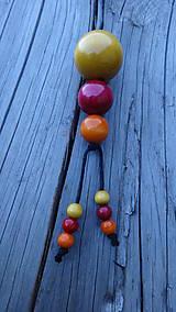 Náhrdelníky - 3x3 citrusovo-brusnicový fresh - 10010024_