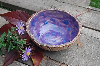Nádoby - Keramická miska fialová - 10007919_