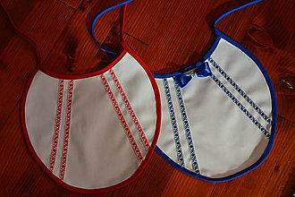 Iné doplnky - Č. 25 Folklórne podbradníky červená a modrá verzia s motýlikom - 10008183_
