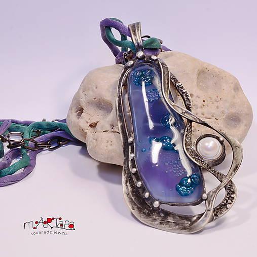 Náhrdelníky - Poklad moří /Fusing sklo/ - 10011286_