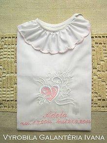 Detské oblečenie - Košieľka na krst K12 ružová (Odoslanie do 21 dní) - 10009537_