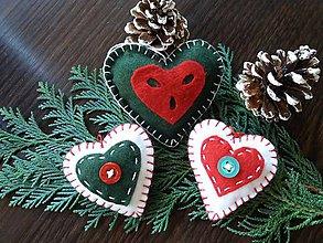 Drobnosti - vianočné srdiečka - 10014772_