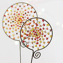 Dekorácie - farebné lízanky :) (v jesenných farbách) - 10015758_