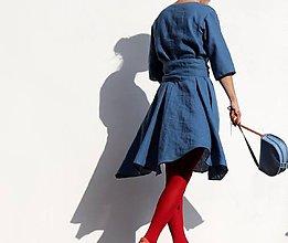Šaty - lněné (vel.36) - 10012501_