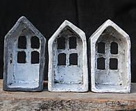 Svietidlá a sviečky - RAKU domček - svietnik - 10012924_