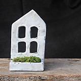 Svietidlá a sviečky - RAKU domček - svietnik - 10012927_