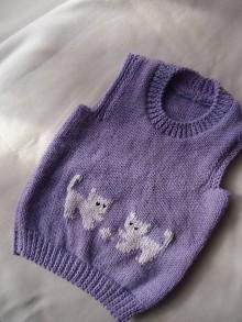Detské oblečenie - vestička - mačičky 1 - 10013433_