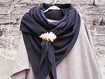 Šatky - Velký,černý,fleecový pléd - 10015227_
