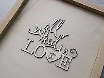 Svadobný rám All you need is love