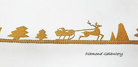 Galantéria - Ozdobná lemovka nalepovacia - Vianočný štýl - zlatý - 10016624_