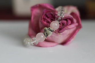 Náramky - Anjelský náramok s ruženínom a kryštálom - 10014727_