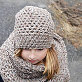 Detské čiapky - hrubá čiapka prírodná z ALPAKY - 10012587_