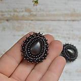 Náušnice - Pottery Drops n.8 - Vyšívané náušnice - 10016518_