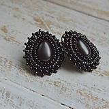 Náušnice - Pottery Drops n.8 - Vyšívané náušnice - 10016519_